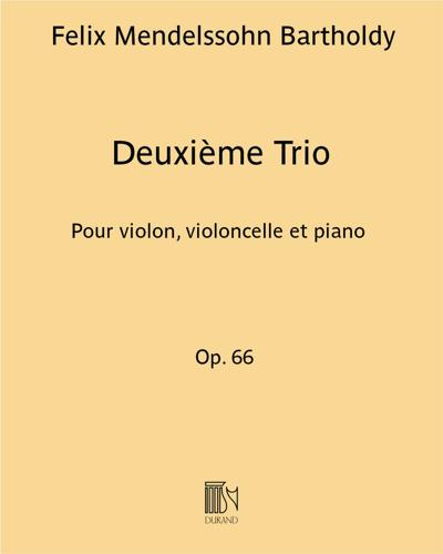 Deuxième Trio Op. 66