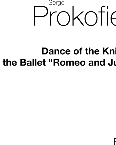 """Dance of the Knights (from the Ballet """"Romeo and Juliet"""")"""