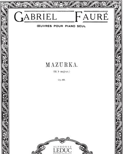 Mazurka Op. 32 in Si b majeur