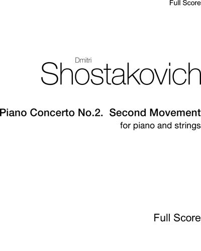 Piano Concerto No.2.  Second Movement