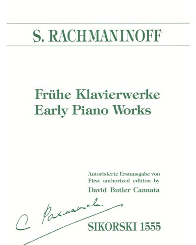 Early Piano Works [First Authorized Edition]