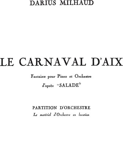"Le Carnaval d'Aix (d'après ""Salade"")"