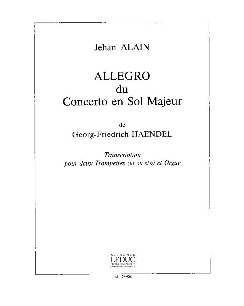 Allegro du Concerto en Sol majeur