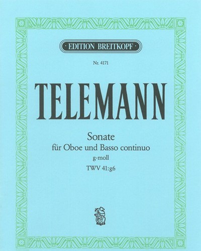 Sonate g-moll TWV 41:g6