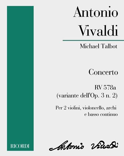 Concerto RV 578a (variante dell'Op. 3 n. 2)