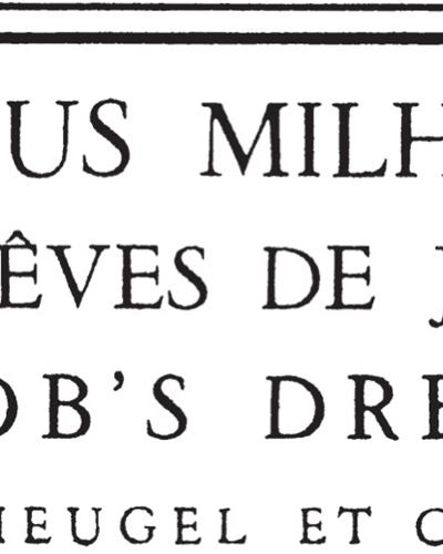 Les Rêves De Jacob Op. 294, Suite Chorégraphique