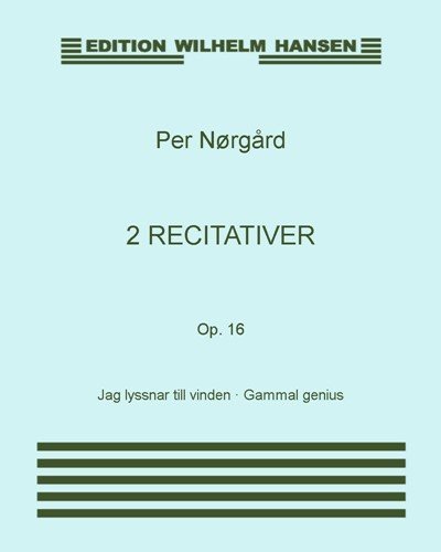2 recitativer, Op. 16