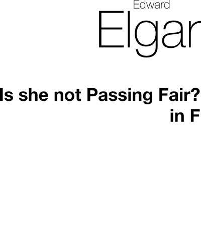 Is she not Passing Fair?