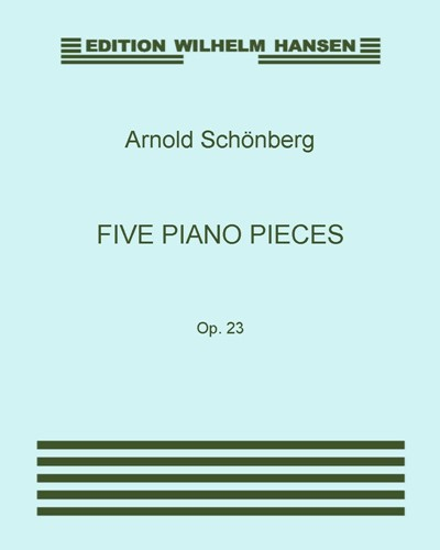 Five Piano Pieces, Op. 23