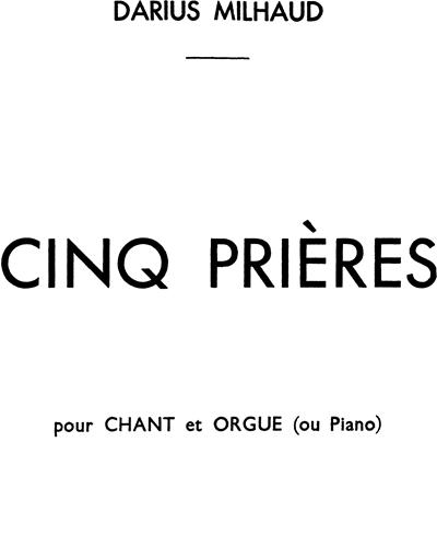 5 Prières Op. 231c