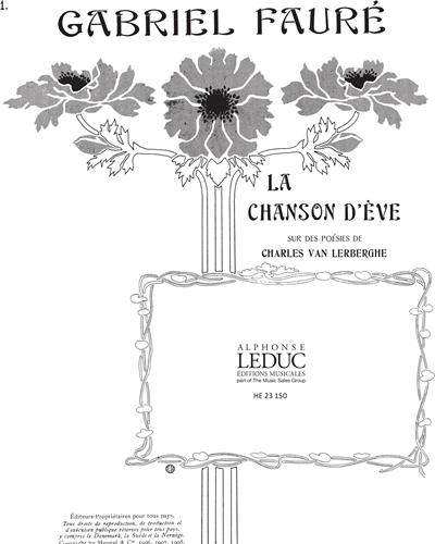 """Paradis No. 1 (De """"La Chanson d'Ève"""" Op. 95)"""