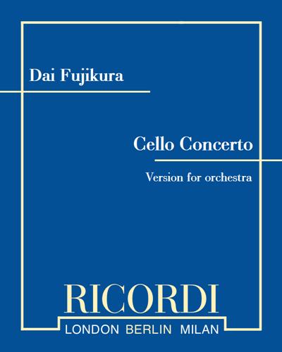 Cello concerto - Version for orchestra