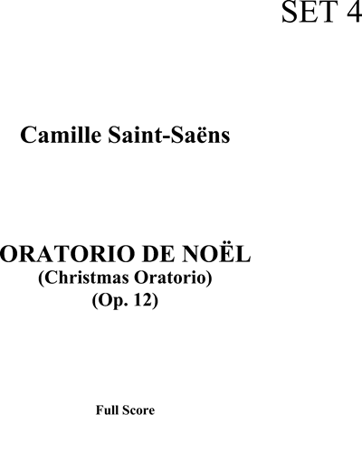 Christmas Oratorio, Op. 12