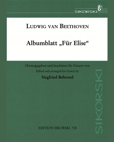 "Album Leaf ""Für Elise"""