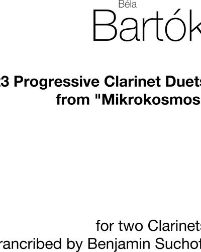 """23 Progressive Clarinet Duets from """"Mikrokosmos"""""""