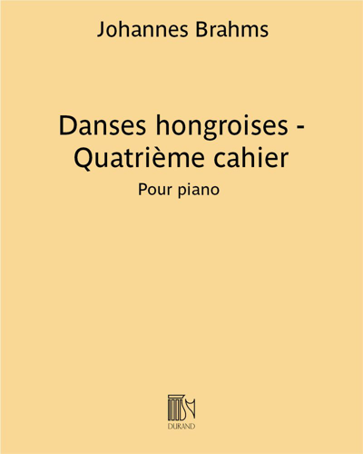 Danses hongroises - Quatrième cahier