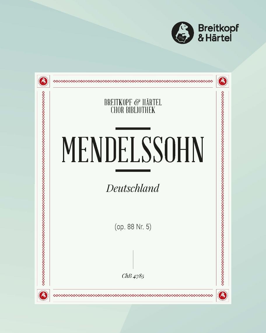 """6 Lieder (op. 88) - 5. Deutschland """"Durch tiefe Nacht ein Brausen zieht"""" MWV F 33"""