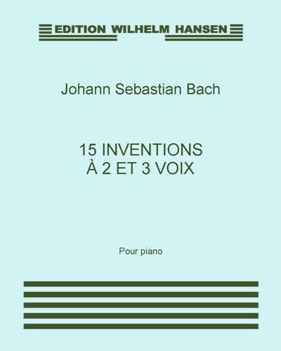 15 Inventions à 2 et 3 voix