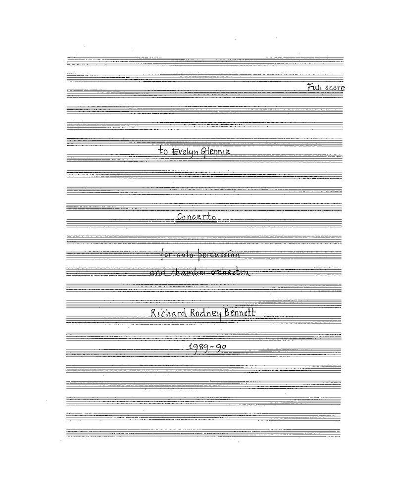 Percussion Concerto