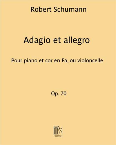 Adagio et allegro Op. 70