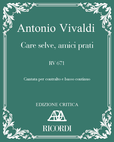 Care selve, amici prati RV 671