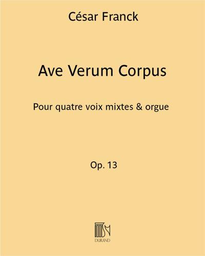 """Ave Verum Corpus (extrait n. 2 de """"Huit Motets"""")"""