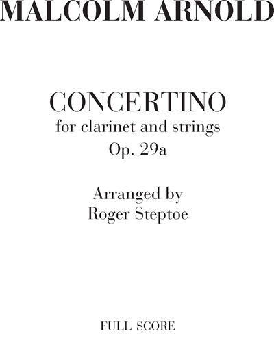 Concertino for clarinet and strings Op. 29a