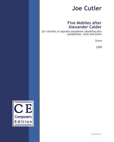 Five Mobiles after Alexander Calder