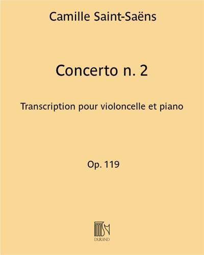 Concerto n. 2 Op. 119 - Transcription pour violoncelle et piano