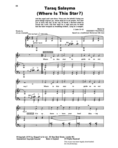 Taraq Salayma (Where Is This Star?) (from 'Carols For Today')