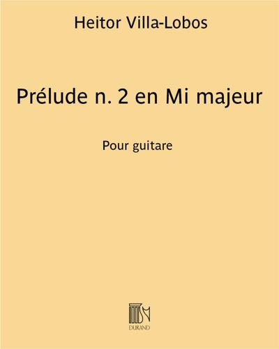 Prélude n. 2 en Mi majeur
