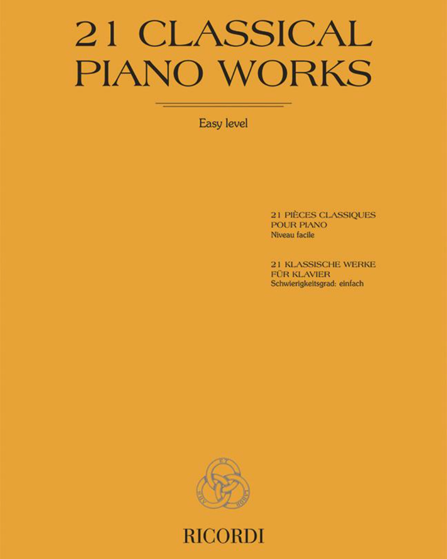 21 Classical piano works - Easy level