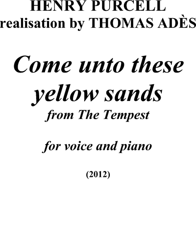 Come unto these yellow sands