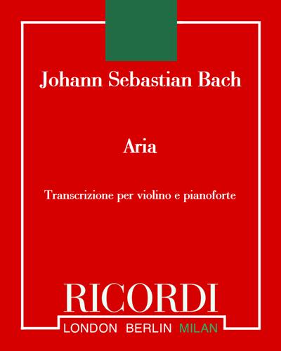 Aria (dalla suite in re per archi)