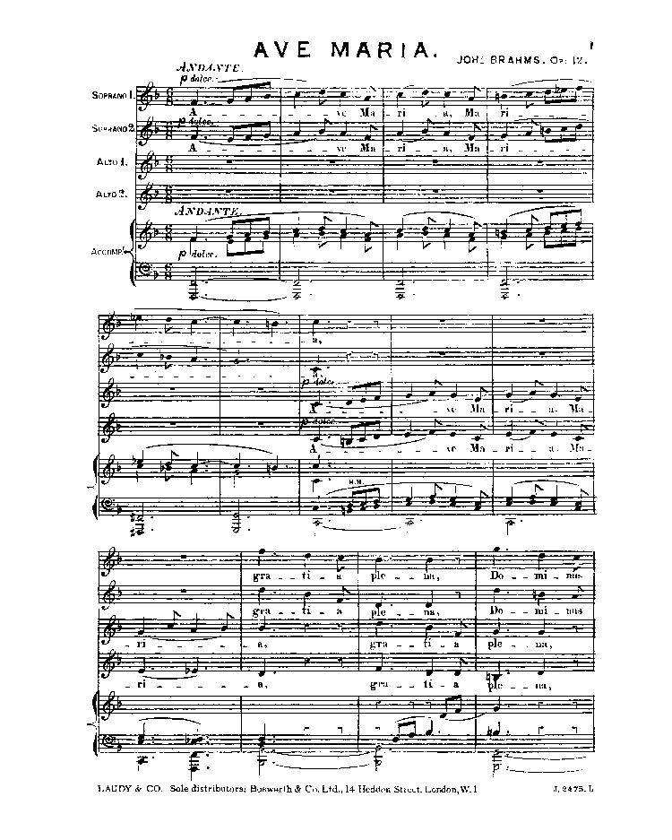 Ave Maria, Op. 12
