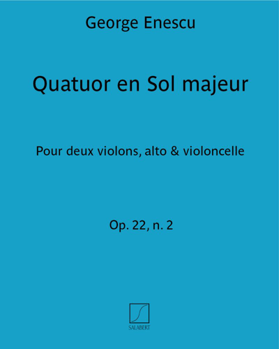 Quatuor en Sol majeur Op. 22 n. 2