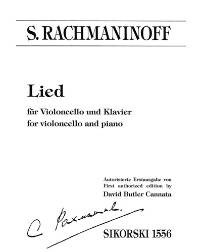 Lied [First Authorized Edition]