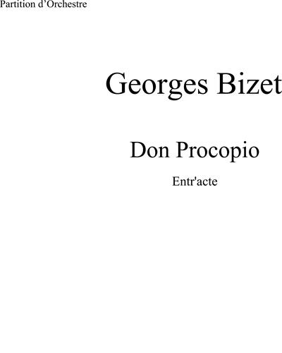 Don Procopio: Entr'acte