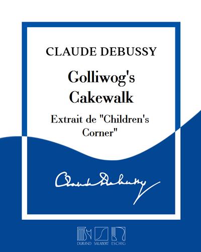 """Golliwog's Cakewalk (extrait de """"Children's Corner"""") - Pour saxophone alto en mi bémol & piano"""