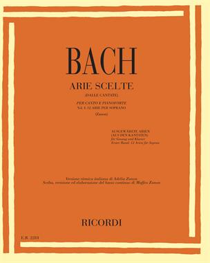 Arie scelte (dalle cantate) Vol. 1 - 12 arie per soprano