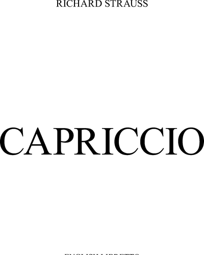 Capriccio, op. 85