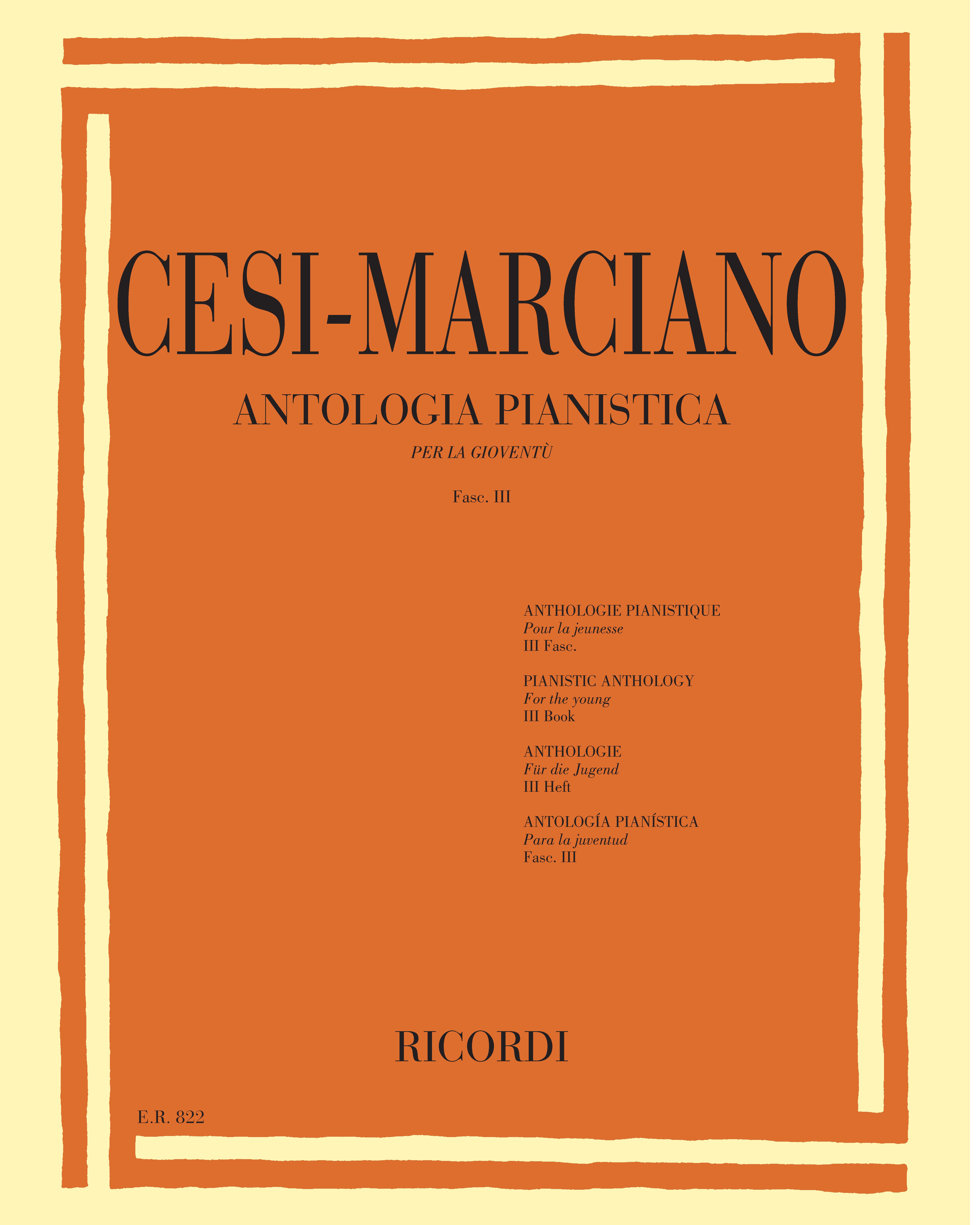 Antologia pianistica per la gioventù Fascicolo 3