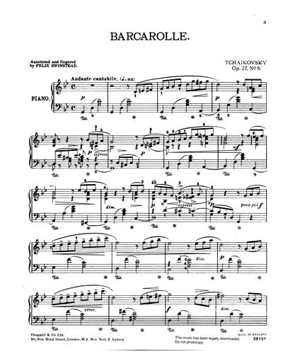 Barcarolle (Op. 37 No.6)
