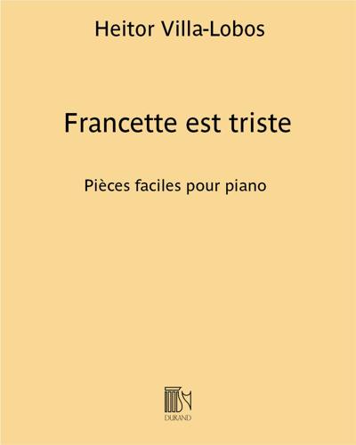 """Francette est triste (n. 7 des """"Francette et pià"""")"""