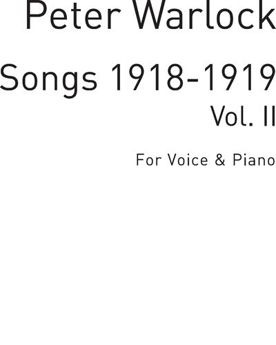 Songs 1918-1919 Vol. 2