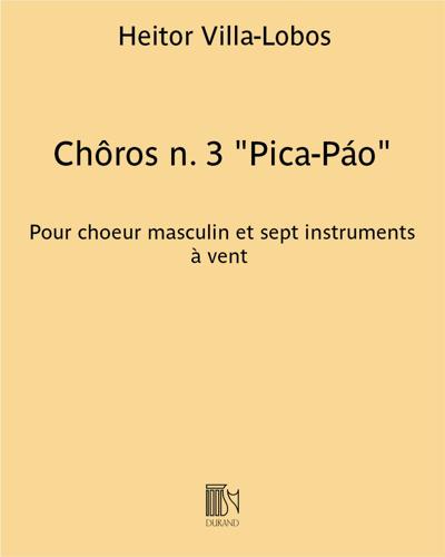 """Chôros n. 3 """"Pica-Páo"""""""