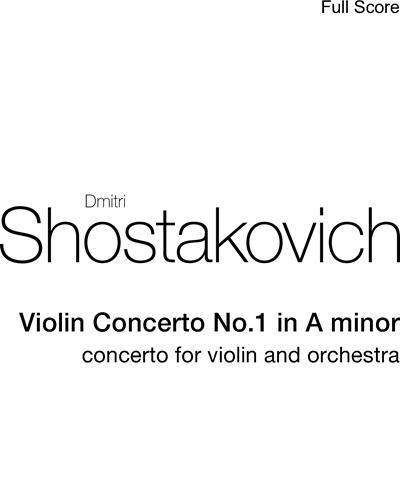 Dmitri Shostakovich: Violin Concerto No 1 in A minor sheet music | nkoda