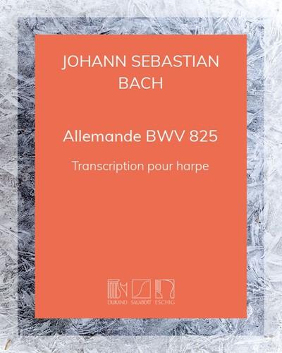 """Allemande (extrait de la première """"Partita"""" en Si bémol) BWV 825"""