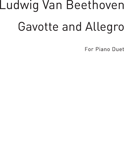 Gavotte and Allegro for Piano Duet