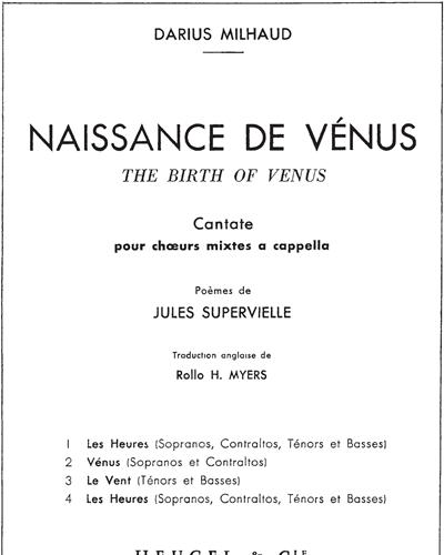 Naissance de Venus, Op. 292